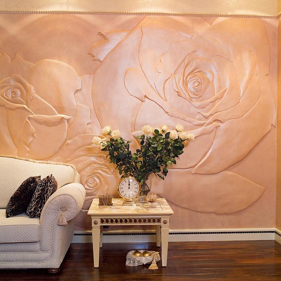 Рисунки гипсом на стене своими руками фото 400