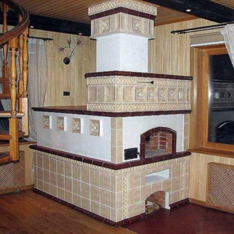 Дизайн печки в частном доме своими руками 83