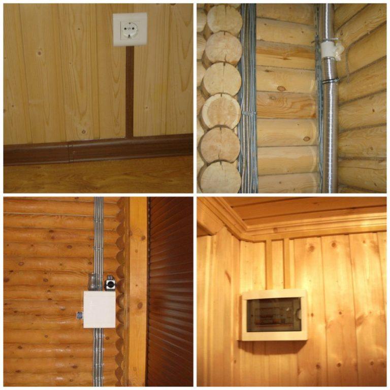 Монтаж наружной электропроводки в деревянном доме своими руками 79