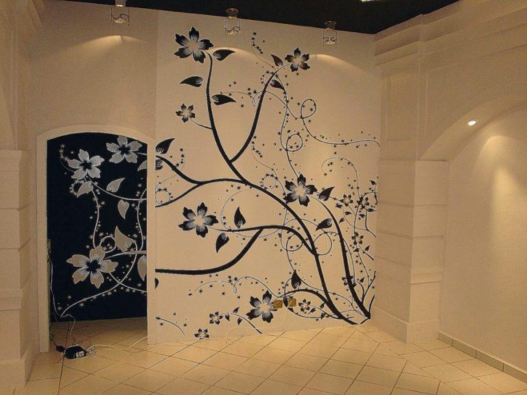 Декоративные рисунки на стенах своими руками 44