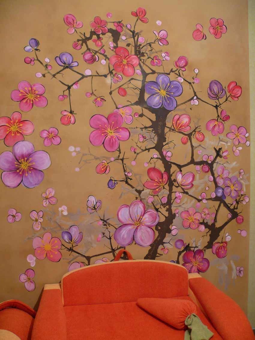 Рисунок на стене своим рук 34