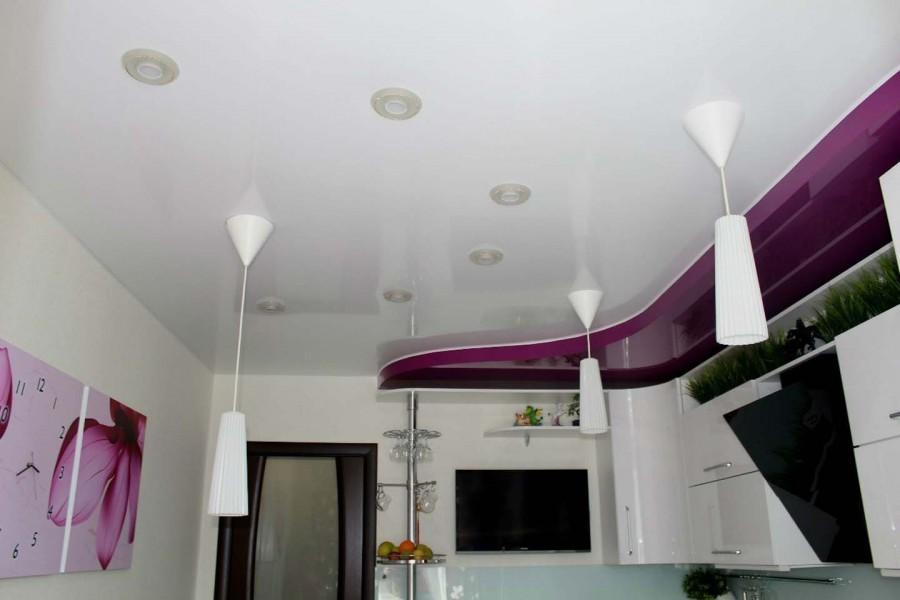 Двухуровневый натяжной потолок в детской комнате 34 фото двухуровневые подвесные конструкции из гипсокартона в интерьере