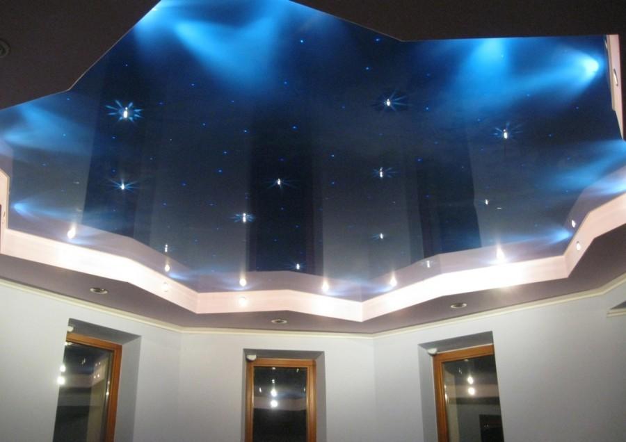 Двухуровневые потолки из гипсокартона для гостиной своими руками с фото