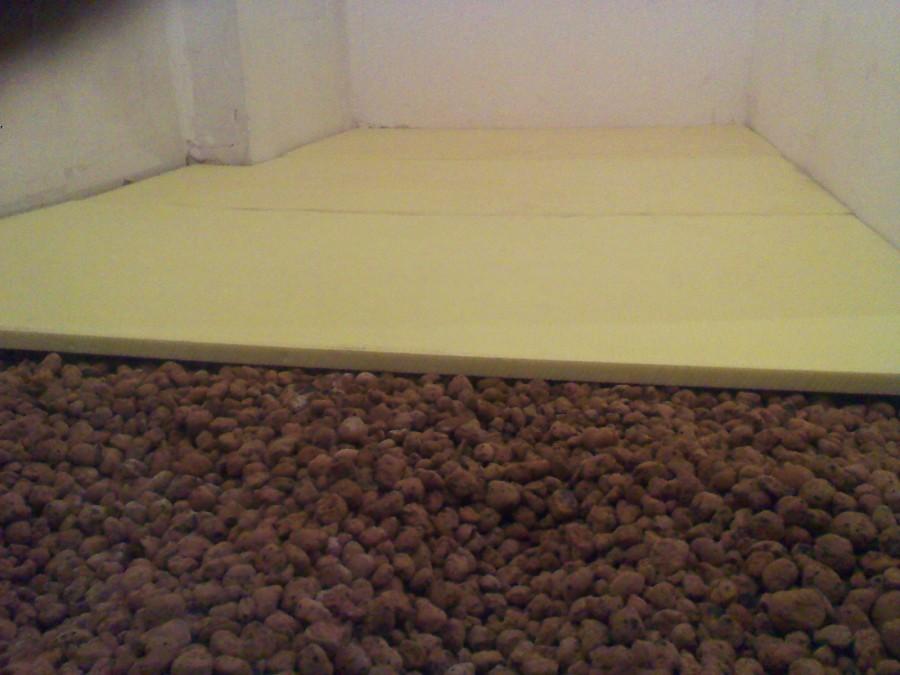 пеноплекс или керамзит под стяжку в квартире
