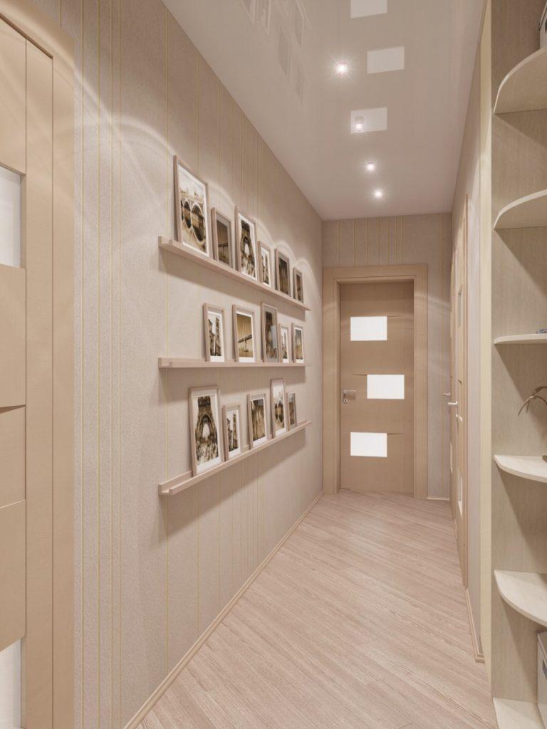 современный фото коридора в квартире со светлым полом ресторана для