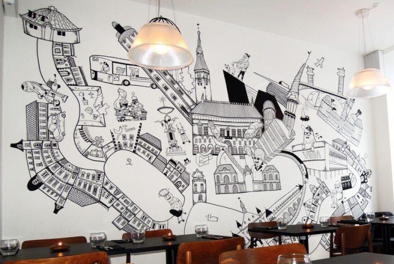 сами эскиз картинок на стену важно обращать внимание